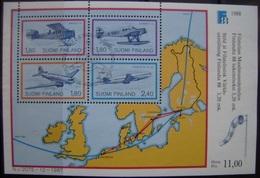 FINLANDIA - IVERT H.BLOQUE Nº 4 USADO EXP.FILATELICA - TRENES (R116)