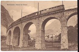 BERNINABAHN: Zug Nahansicht Auf Viaduct Bei BRUSIO 1912 - GR Grisons