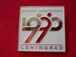 Figure Skating European Championships 1990 Leningrad USSR Pin (32 X 32 Mm) - Skating (Figure)
