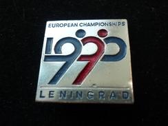 Figure Skating European Championships 1990 Leningrad USSR Pin (23 X 23 Mm) - Patinage Artistique