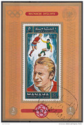 718 Manama 1972 Soccer Calcio Football Brasile Denis Law Monaco Munich 1974 Imperf. FIFA World Cup Manchester United - Coppa Del Mondo
