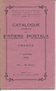 Catalogue Abégé Des Entiers Postaux 1°édition 1946 Y&T 27pages Format 115x188 - Timbres