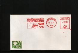 Deutschland / Germany 1974 World Football Champioship Germany  Interesting Letter With Scarce Metermark/ Freistempel - Coppa Del Mondo