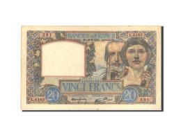 France, 20 Francs, 20 F 1939-1942 ''Science Et Travail'', 1941, 1941-08-28 - 1871-1952 Anciens Francs Circulés Au XXème