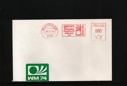 Deutschland / Germany 1974 World Football Champioship Germany  Interesting Letter With Scarce Metermark/ Freistempel - World Cup