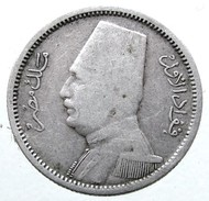 1929 - 2 Piastres - (AH 1348) - KM# 348 - Silver - - Egitto