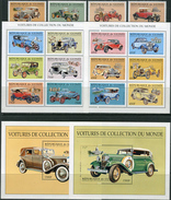 Guinee 1998. Michel #1995/2010+Bl.#546/47 MNH/Luxe. Historical Motor Vehicles. (Ts43) - Guinee (1958-...)