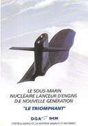 """50 - CHERBOURG - Sous-marin Nucléaire Lanceur D'engins """"Le Triomphant"""" 1996 - Cherbourg"""