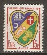 FRANCE     -     1959 .     Y&T N° 1195 ** .    Blason D' Alger - France
