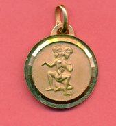Très Beau Médaillon, Médaille Signe Du Zodiac: Poinçon - Other