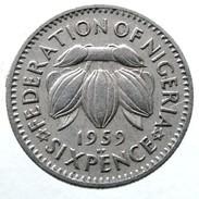 1959 - Nigeria 6 Pence - KM# 4 - Colonies