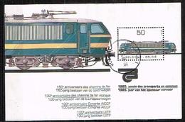 BELGIQUE /Oblitérés/Used /1985 - Année Des Transports Publics - Blocks & Sheetlets 1962-....