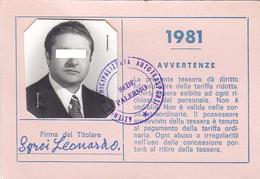 PALERMO - TESSERA AMAT PER TARIFFA RIDOTTA /  Azienda Mucipalizzata Autotrasporti _ 1981 - Europa