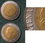 M_p> Repubblica CURIOSITA´ 500 Lire 1993 1° Tipo Banca D'Italia In Cui Manca 1 Del 1893 CURIOSITA´ - 500 Lire