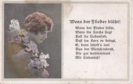 AK Künstlerkarte - Frau Mit Flieder - Wenn Der Flieder Blüht! - Feldpost Bayer. Mineurkomp. 5 - 1918 (28219) - Frauen