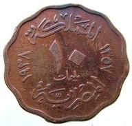 1938 - Egypt 10 Millièmes  (AH 1357) - KM# 361 - Egitto