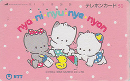 Rare Télécarte Japon / NTT 330-098 A - Comics - Animal - CHAT & POUSSIN - CAT & CHICK Japan Phonecard - KATZE & KÜKEN