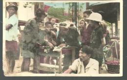 CP SUD VIET NAM SAIGON Ecrivain Public Vendant Des Sentences Pendant Le Tet - Vietnam