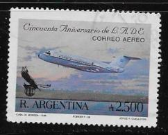 ARGENTINE, 1990, USED # C153  ARGENTINE STATE AIRLINE, 50th Anniv.: Fokker F-27 Used - Argentine