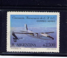 ARGENTINE, 1990, USED # C154  ARGENTINE STATE AIRLINE, 50th Anniv.: Fokker F-28 Used - Argentine