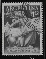 ARGENTINE, 1954, USED # 643   100th  BUENOS AIRES  GRAIN EXCHANGE. Used - Oblitérés