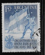 ARGENTINE, 1954, USED # 621   PLANTING  ARGENTINE FLAG  In The ARTIC USED - Oblitérés