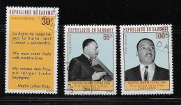 DAHOMEY, 1968,  COT H, # C771-3,  MARTIN LUTHER KING , MH - Bénin – Dahomey (1960-...)