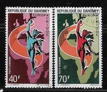 DAHOMEY, 1970 , COT With Gum, HINGED, #C127-8, EUROPAFRICA - Bénin – Dahomey (1960-...)