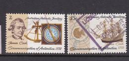 Australian Antarctic Territory  ASC 21-22 1972 200th Anniversary Cook Voyages Used Set - Australian Antarctic Territory (AAT)