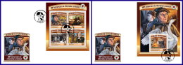 CENTRAL AFRICA 2017 FDC 500th Anniversary Of Reformation Martin Luther M/S+S/S - IMPERFORATED - DH1714 - Theologians