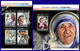 SIERRA LEONE 2017 ** Mother Teresa Mutter Teresa Mere Teresa M/S+S/S - OFFICIAL ISSUE - DH1714