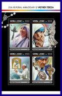 SIERRA LEONE 2017 ** Mother Teresa Mutter Teresa Mere Teresa M/S - IMPERFORATED - DH1714