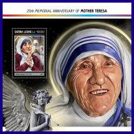 SIERRA LEONE 2017 ** Mother Teresa Mutter Teresa Mere Teresa S/S - IMPERFORATED - DH1714
