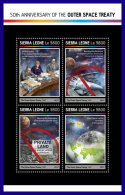 SIERRA LEONE 2017 ** 50th Anniversary Of The Outer Space Treaty M/S - IMPERFORATED - DH1714 - Space
