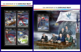 SIERRA LEONE 2017 ** 50th Anniversary Of The Outer Space Treaty M/S+S/S - IMPERFORATED - DH1714 - Africa