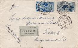 Luftpostbrief 1934 Fussball / Calcio Von Roma Nach Prag (i080) - 1900-44 Victor Emmanuel III