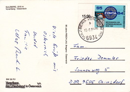 """Ansichtskarte 1984 Von """"SULZBERG, VORALBERG"""" In Die DDR (ak0353) - 1981-90 Briefe U. Dokumente"""