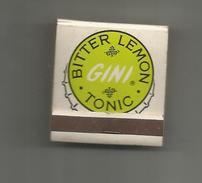 G-I-E , Tabac , Boites , Pochette D'ALLUMETTES , 2 Scans ,  Publicité  , GINI , Bitter Lemon Tonic - Matchbox Labels