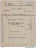 69 2901W TARARE RHONE 1950 LA MESURE INDUSTRIELLE Rue Cornil - Textile & Vestimentaire