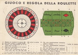 8482-GIUOCO E REGOLA DELLA ROULETTE-FG - Cartoline