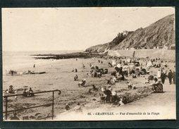 CPA - GRANVILLE - Vue D'ensemble De La Plage, Animé - Granville