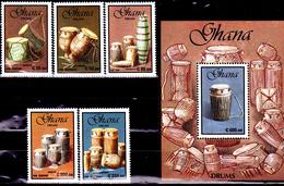 Ghana 1186 / 90 + Bf 165 Tambours Des Tribus - Music