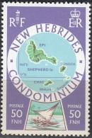 Nouvelles Hebrides 1977 Michel 481 Neuf ** Cote (2005) 2.00 Euro Iles Sheperd - Légende Anglaise