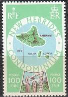 Nouvelles Hebrides 1977 Michel 483 Neuf ** Cote (2005) 5.00 Euro Ile Ambrym - Légende Anglaise
