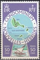 Nouvelles Hebrides 1977 Michel 494 Neuf ** Cote (2005) 1.60 Euro Iles Sheperd - Légende Française