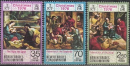 Nouvelles Hebrides 1976 Michel 435 - 437 Neuf ** Cote (2005) 3.20 Euro Noël - Légende Anglaise