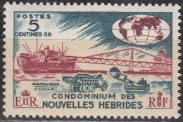 Nouvelles Hebrides 1966 Michel 240 Neuf ** Cote (2005) 1.00 Euro Déchargement De Manganite Dans Le Port - Légende Française