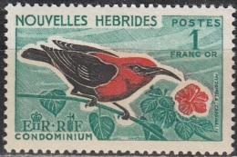 Nouvelles Hebrides 1966 Michel 242 Neuf ** Cote (2005) 4.20 Euro Oiseau Myzomèle Cardinal - Légende Française