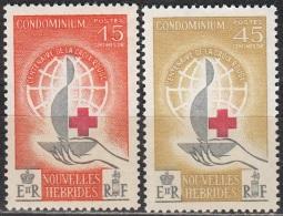 Nouvelles Hebrides 1963 Michel 198 - 199 Neuf ** Cote (2005) 17.00 Euro 100 Ans Croix-Rouge - Légende Française