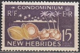 Nouvelles Hebrides 1963 Michel 200 Neuf ** Cote (2005) 0.80 Euro Fruit De Coco - Neufs